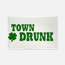 Town Drunk Rectangle Magnet
