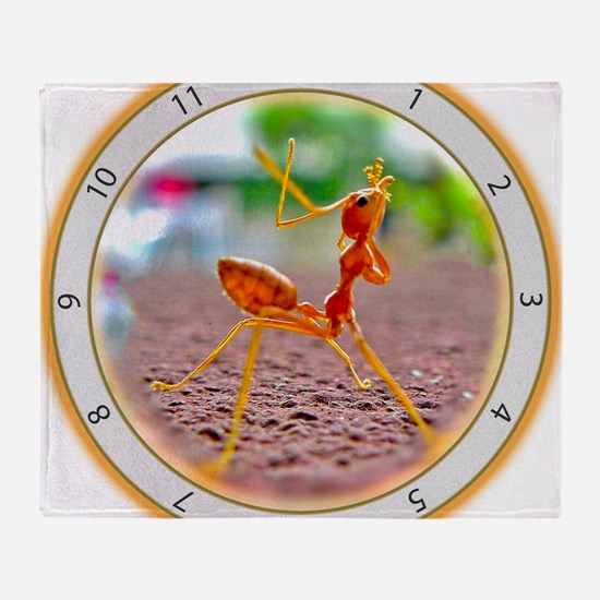 Red Ant Heads Up Throw Blanket