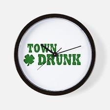 Town Drunk Wall Clock