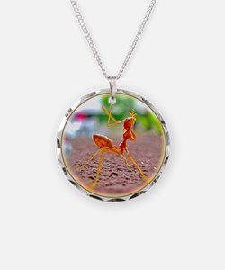 Red Ant Heads Up Necklace