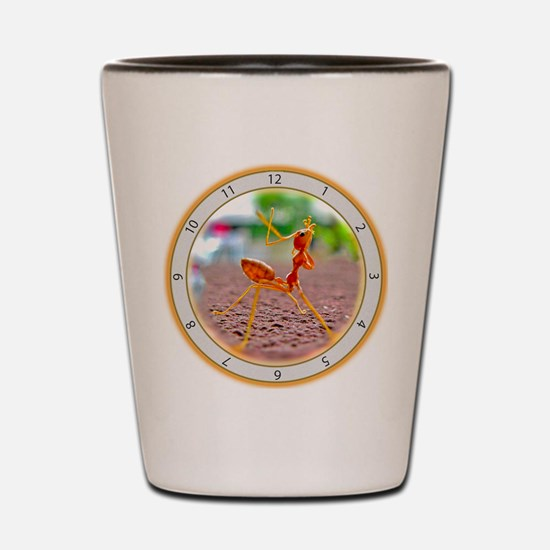 Red Ant Heads Up Shot Glass