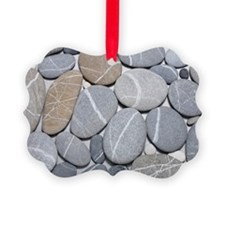 Stones with lines through them Ornament