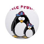 Little Brother Penguin Ornament (Round)