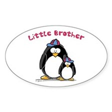 Little Brother Penguin Oval Decal