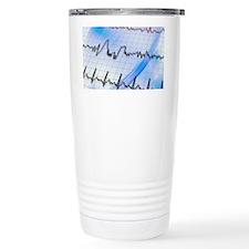 Irregular heartbeat Travel Coffee Mug