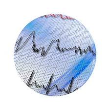 """Irregular heartbeat 3.5"""" Button"""