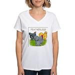 Feather-leg Trio Women's V-Neck T-Shirt