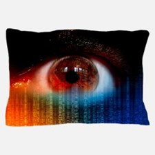 Iridology cholesterol ring Pillow Case