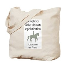 dressage rider w/ quote Tote Bag