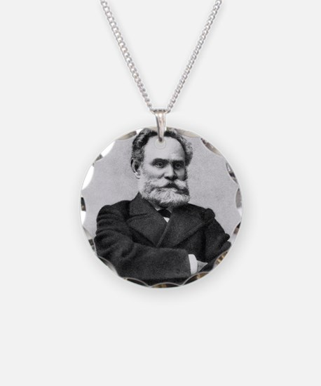 Ivan Pavlov, Russian physiol Necklace Circle Charm