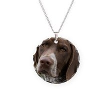 German Shorthair Pointer Wit Necklace Circle Charm