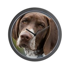 German Shorthair Pointer With Building  Wall Clock