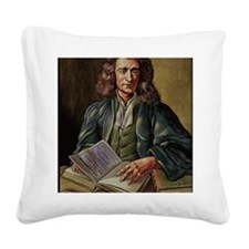 Isaac Newton Square Canvas Pillow