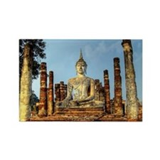 Buddha at Wat Mahathat |Sukhothai Rectangle Magnet