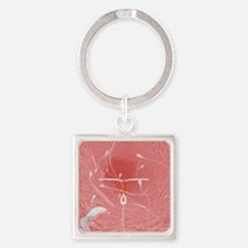 IUD contraceptive and sperm cells Square Keychain