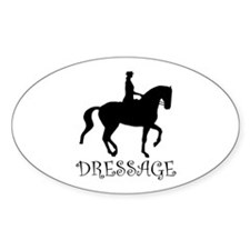 dressage silhouette Oval Decal
