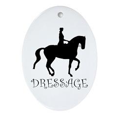 dressage silhouette Oval Ornament