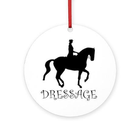 dressage silhouette Ornament (Round)