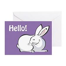 Bunny Notecards (Pk of 10): Hello