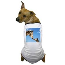 Young and Adult Giraffes Looking Face  Dog T-Shirt