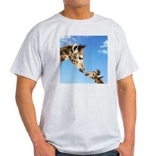 Young and Adult Giraffes Looking Fac T-Shirt