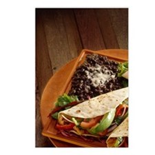 Soft shell tacos entree Postcards (Package of 8)