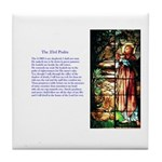 23rd Psalm Tile Coaster