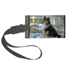 Tri-Color Sheltie Luggage Tag