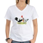 Dorking Chickens Women's V-Neck T-Shirt