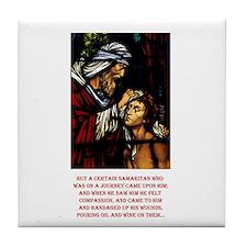 Good Samaritan Tile Coaster