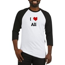 I Love Ali Baseball Jersey