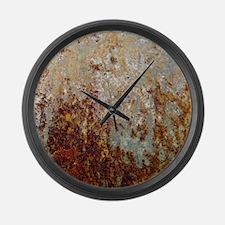 Rust Large Wall Clock