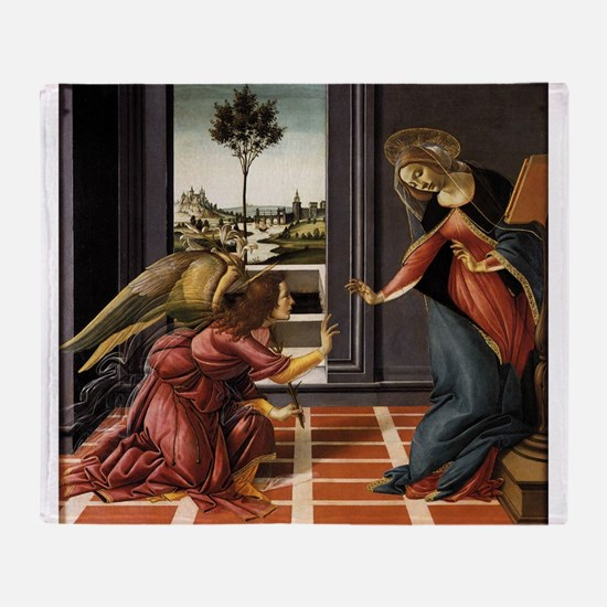 Cestello Annunciation - Botticelli Throw Blanket