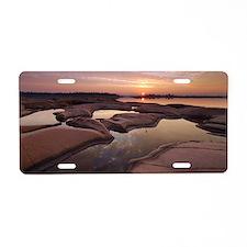 Sunrise on granite, Ontario Aluminum License Plate