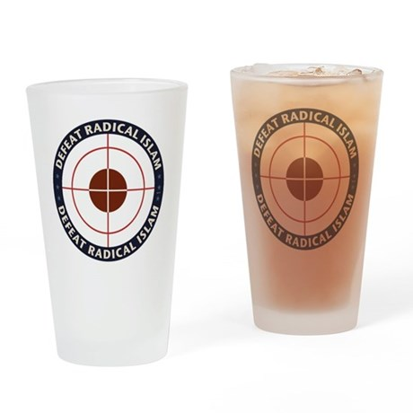 Defeat Radical Islam Drinking Glass