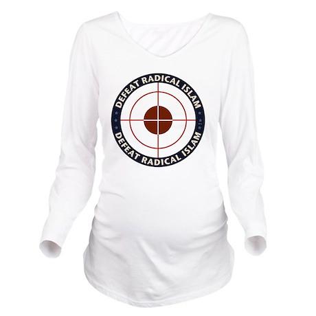 Defeat Radical Islam Long Sleeve Maternity T-Shirt