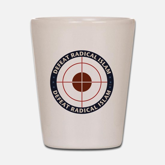 Defeat Radical Islam Shot Glass