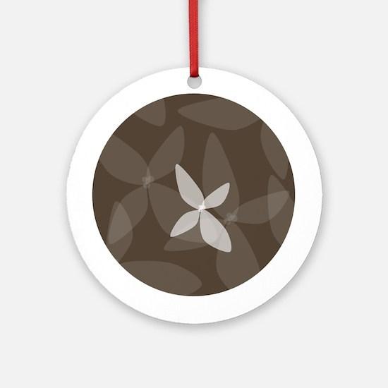 Flower Art (bark) Ornament (Round)