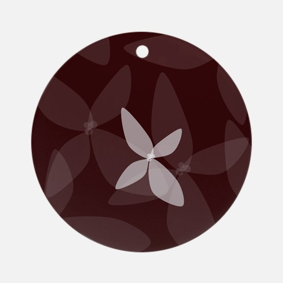 Flower Art (plum) Ornament (Round)