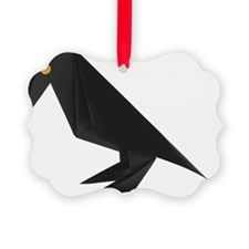 Crow, origami Ornament