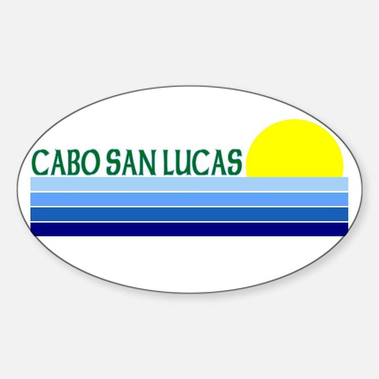 Cabo San Lucas, Mexico Oval Decal