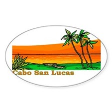 Cabo San Lucas, Mexico Oval Decal