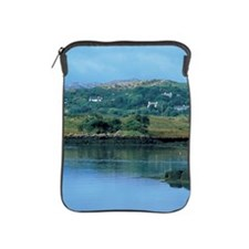 two boats anchored by the riverside iPad Sleeve