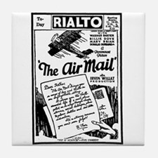 THE AIR MAIL Silent Movie Ad Tile Coaster