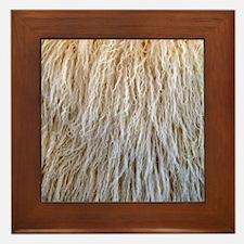 White Fur Framed Tile