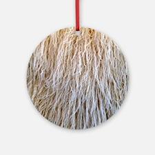 White Fur Round Ornament