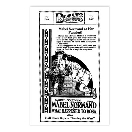 Mabel Normand WHAT HAPPENED Postcards (Package 8)