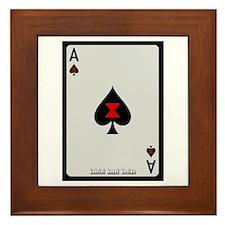 Ace of Spades Card Framed Tile