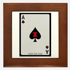Ace of Spades Card Framed Tile