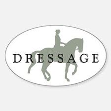 Piaffe w/ Dressage Text Sticker (Oval)